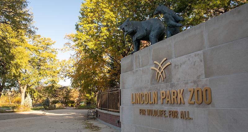 Letreiro do Lincoln Park Zoo em Chicago