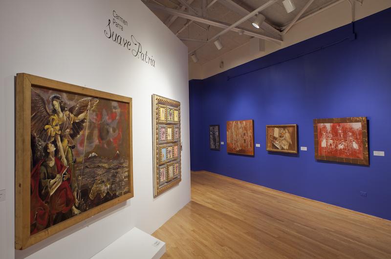 Exposição de quadros no National Museum of Mexican Art em Chicago