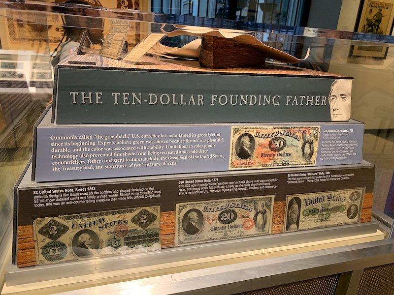 Exposição do dólar no Money Museum em Chicago