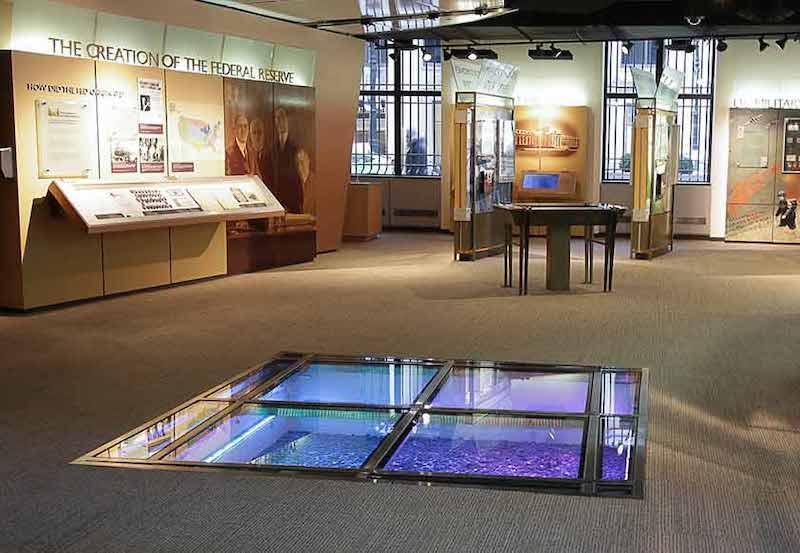 Interior do Money Museum em Chicago