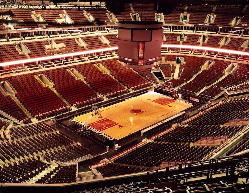 Basquete na arena United Center em Chicago