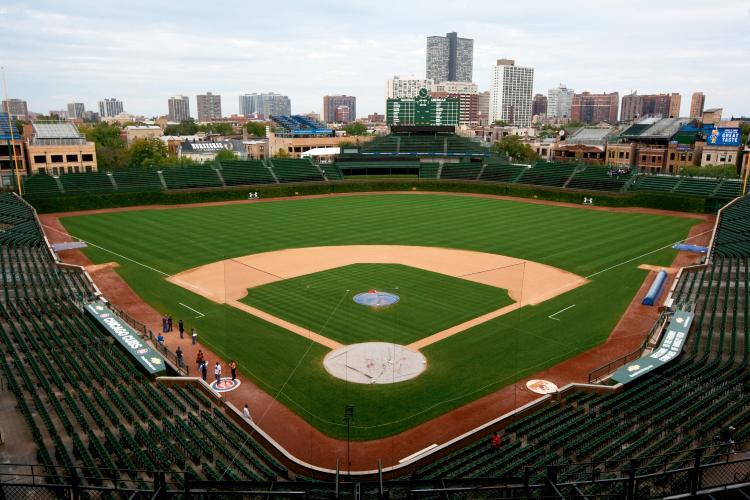 Estrutura do estádio Wrigley Field em Chicago