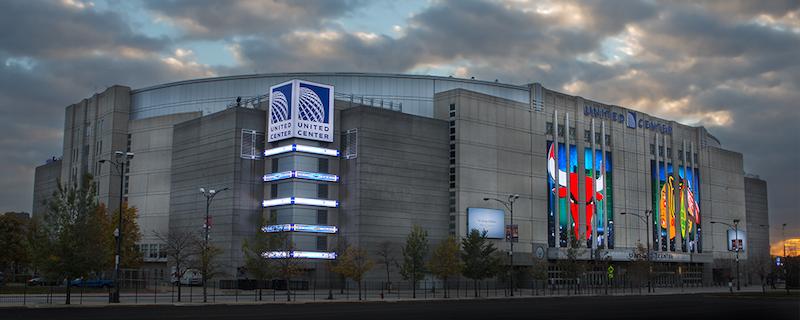 Ginásio esportivo United Center em Chicago