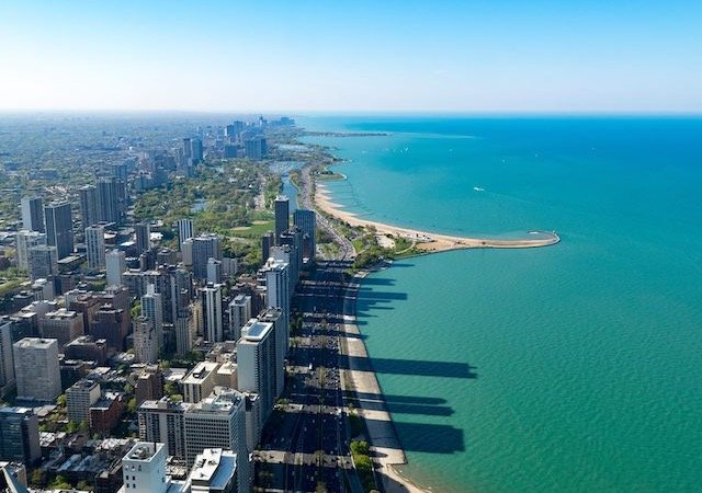 Lake Michigan em Chicago