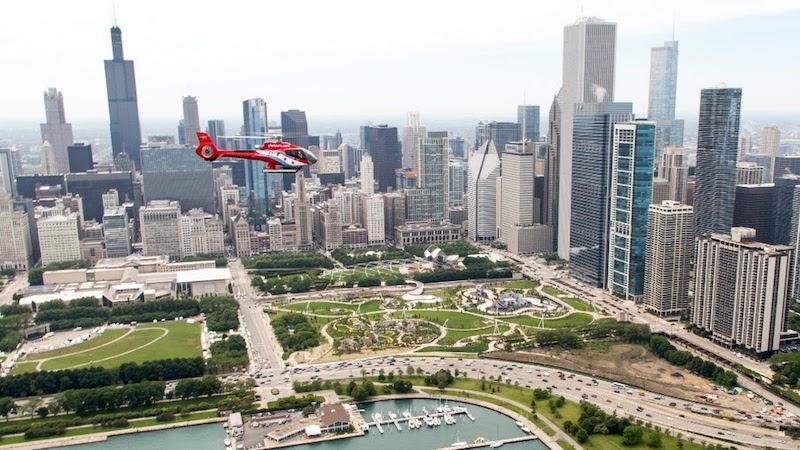 Passeio de helicóptero pelas atrações de Chicago
