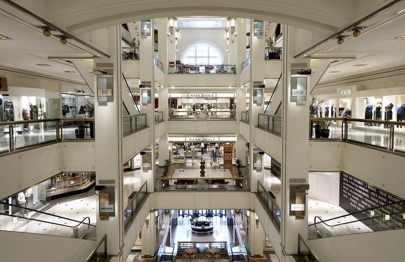 Lojas no 900 North Michigan Shops em Chicago