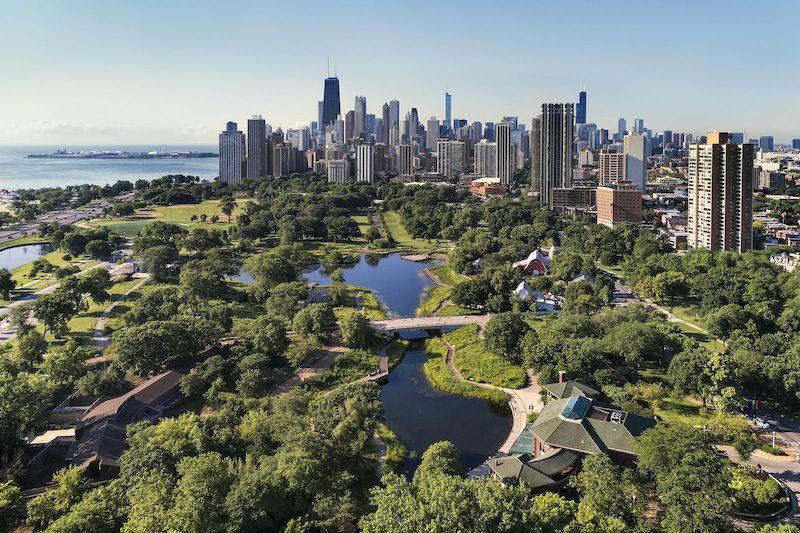 Área do Lincoln Park em Chicago