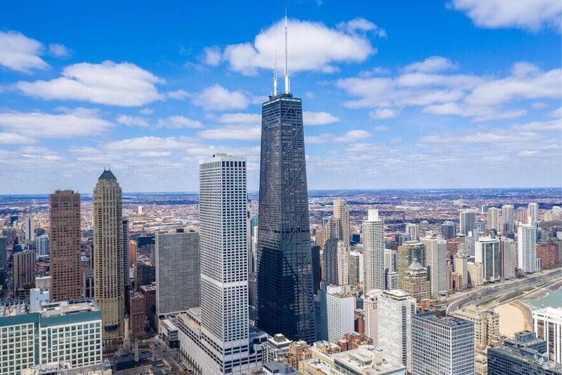 Edifício John Hancock Center em Chicago