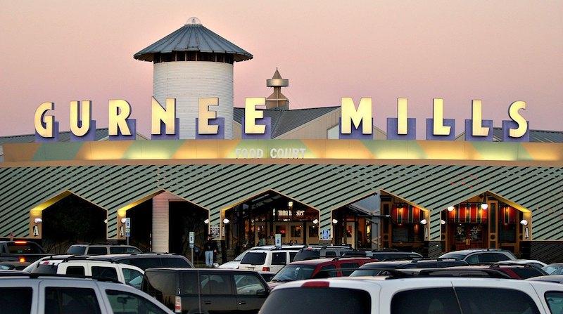 Estacionamento do outlet Gurnee Mills em Chicago