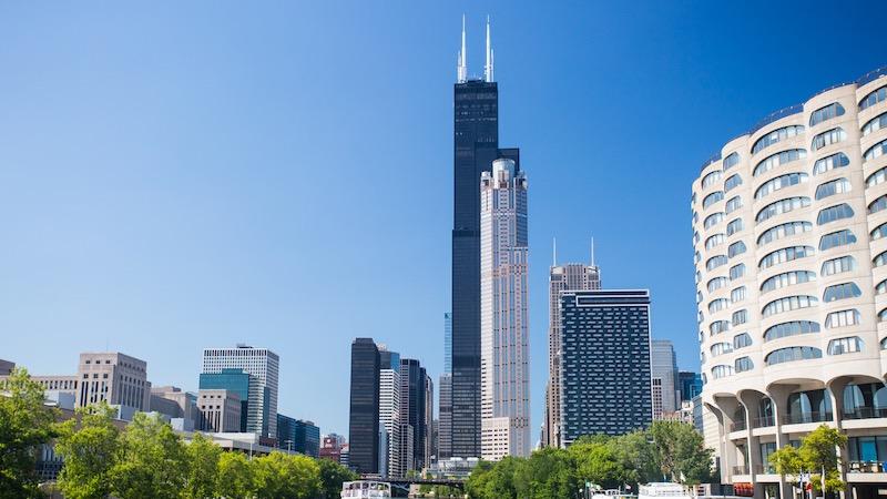 Vista da Willis Tower em Chicago
