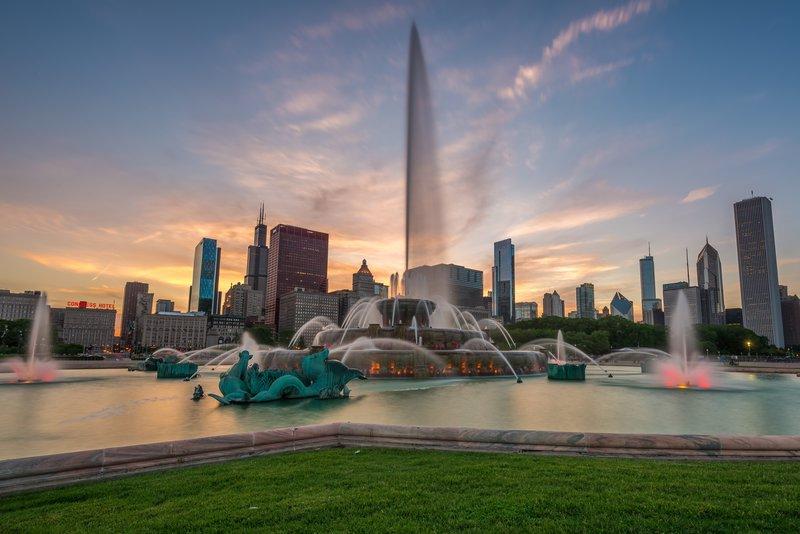 Área da Buckingham Fountain em Chicago