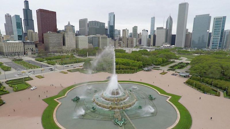 Vista da Buckingham Fountain em Chicago