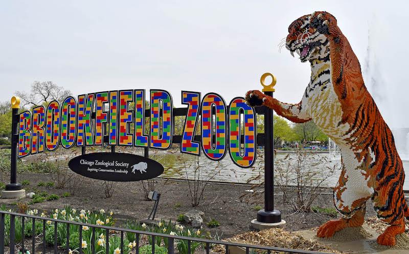 Placa do Zoológico Brookfield perto de Chicago