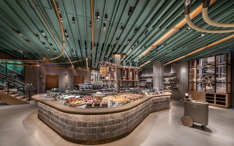 Comidas na Starbucks Reserve Roastery em Chicago