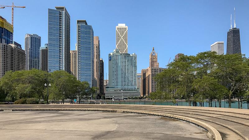 Fonte no Milton Lee Olive Park em Chicago