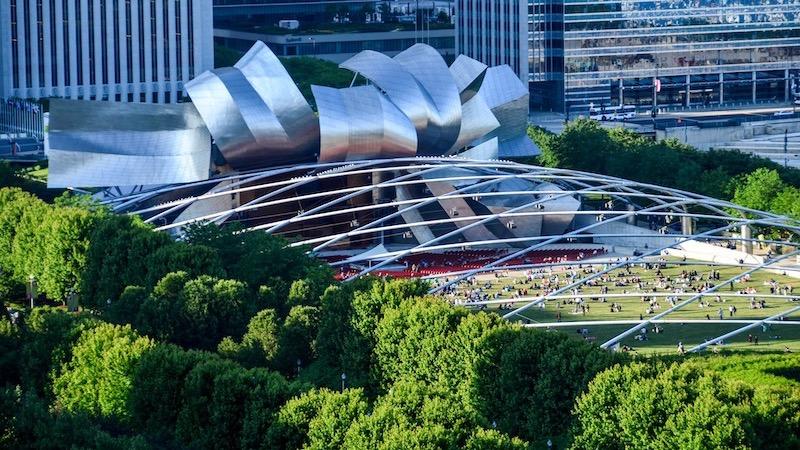 Jay Pritzker Pavilion em Chicago