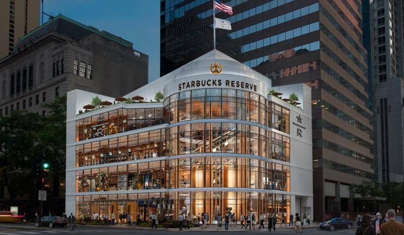Maior Starbucks do mundo em Chicago