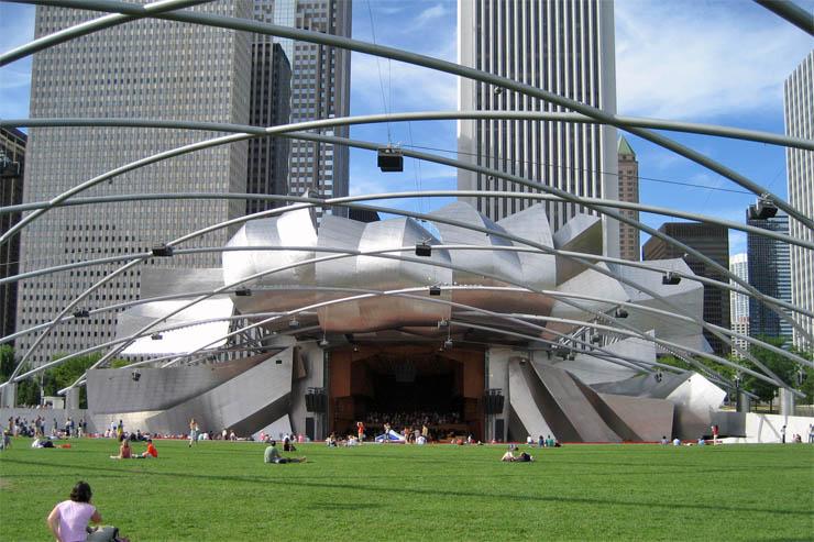 Palco do Jay Pritzker Pavilion em Chicago