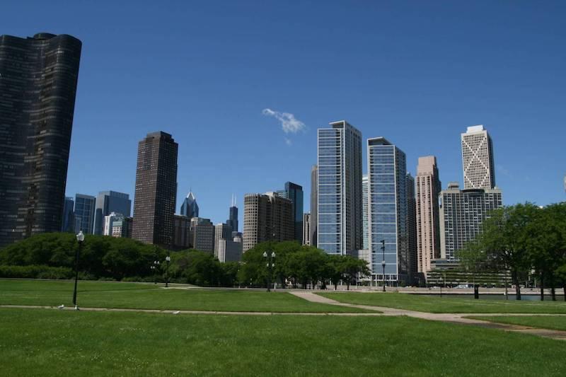 Pistas no Milton Lee Olive Park em Chicago