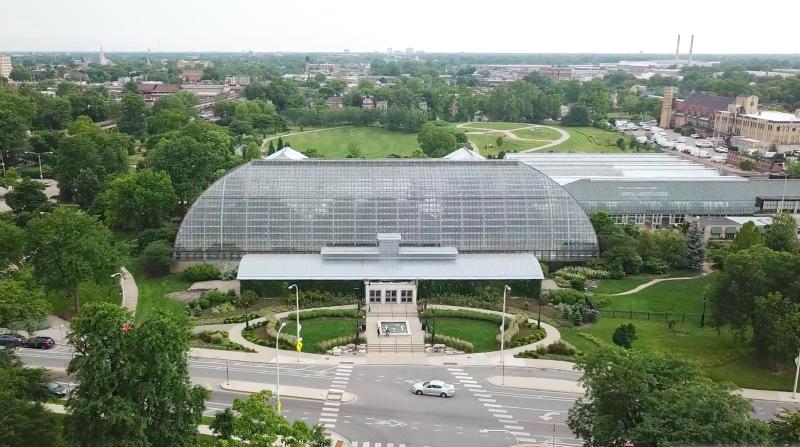 Vista do Garfield Park em Chicago