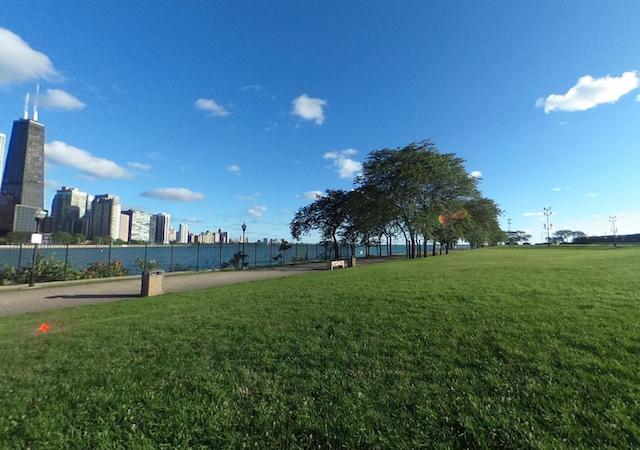 Vista do Milton Lee Olive Park em Chicago