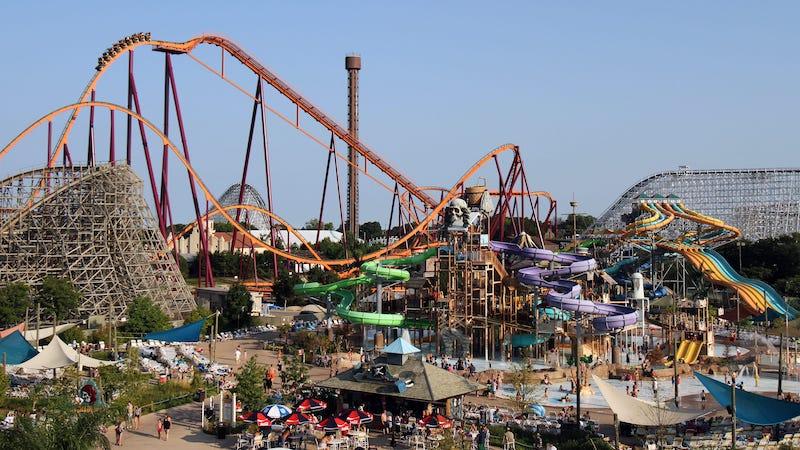 Brinquedos do parque Six Flags Great America