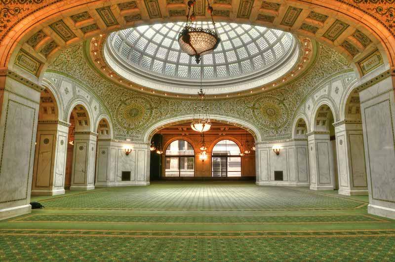Interior do Chicago Cultural Center