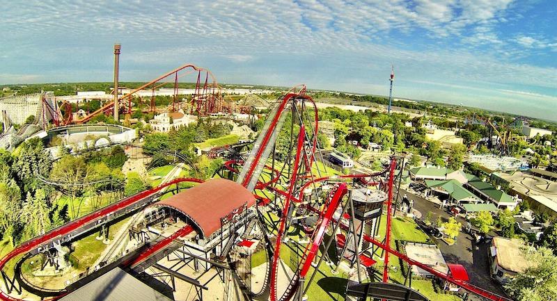 Parque Six Flags Great America perto de Chicago
