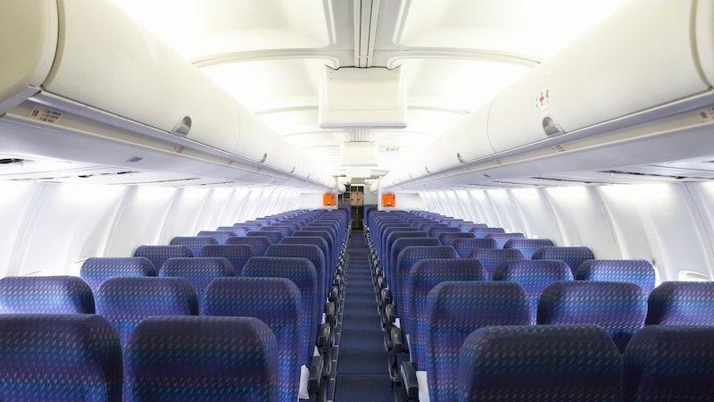 Interior do avião em Chicago