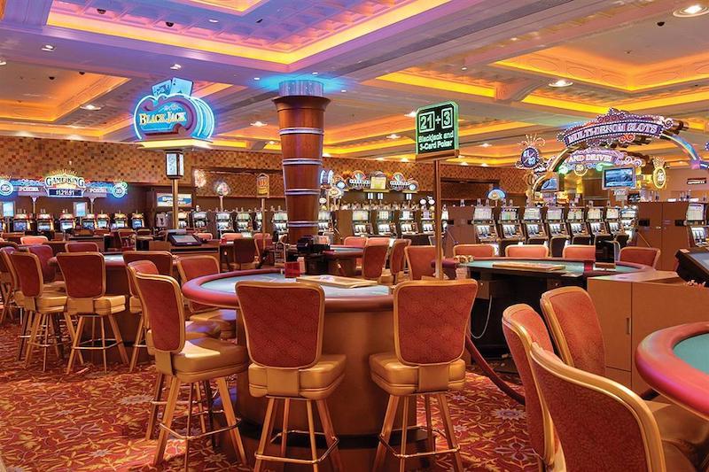 Interior do Blue Chip Casino Hotel em Michigan City