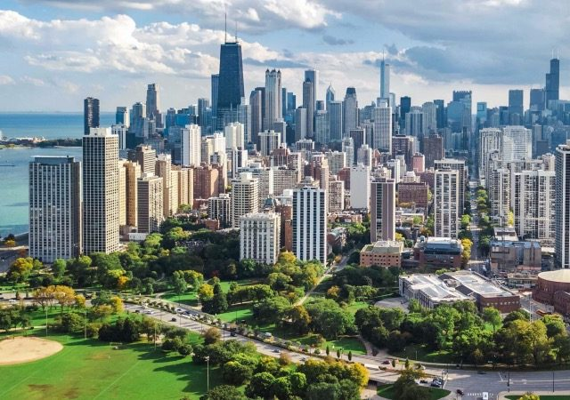 Vista aérea da cidade de Chicago