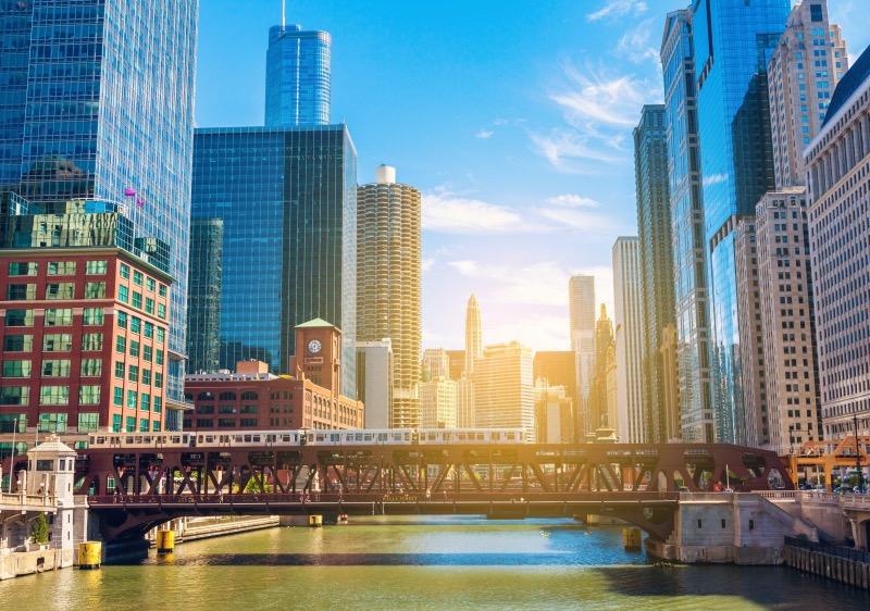 Vista de Chicago Riverwalk