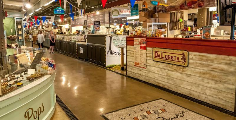 Interior do Chicago French Market