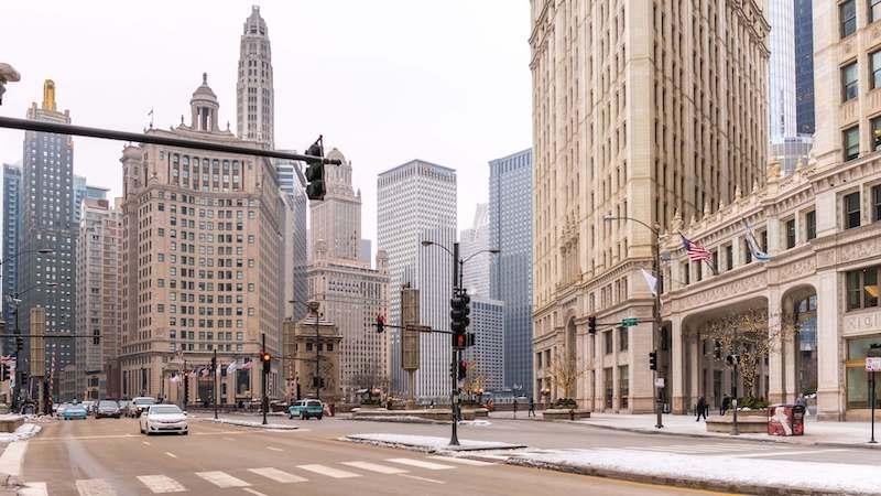 Região da Magnificent Mile em Chicago